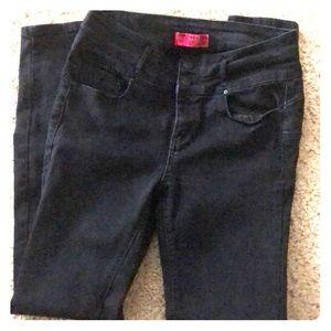 Black Wax stretch skinny jeans